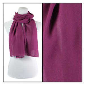 Georgette Scarves  Solid Raspberry -