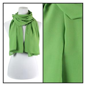 Georgette Scarves  Solid Green -