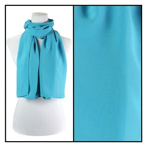 Georgette Scarves  Solid Aqua -