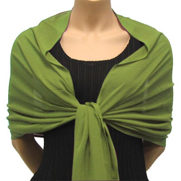 wholesale Georgette Wraps* Solid Green -