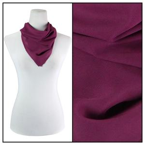 Georgette Neckerchief Squares*  Solid Raspberry  -