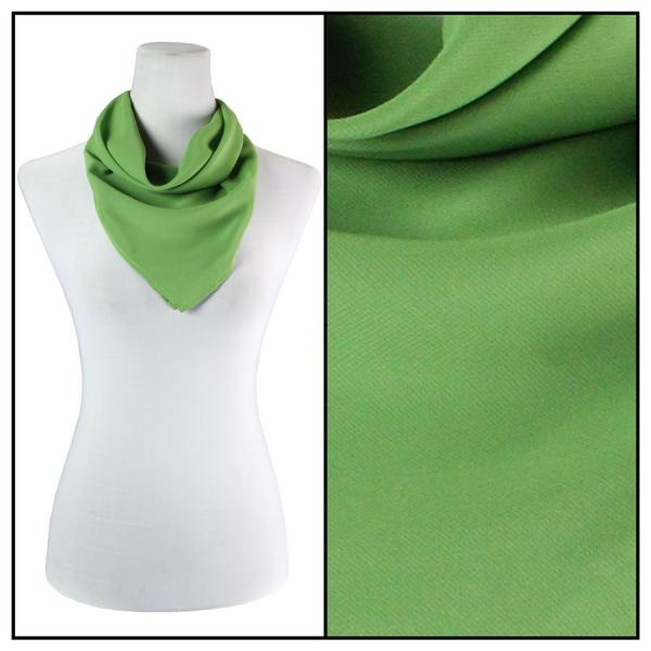 Georgette Neckerchief Squares*  Solid Green  -