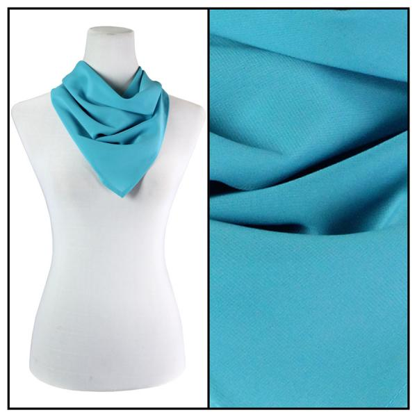 Georgette Neckerchief Squares*  Solid Aqua  -