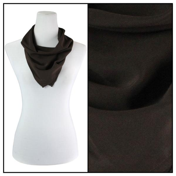 Georgette Neckerchief Squares*  Solid Dark Brown -