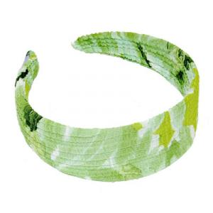 wholesale Georgette Headbands*    Daisies - Green  -