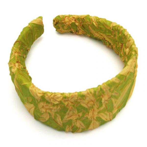 wholesale Origami Headbands*  Green Apple-Gold -