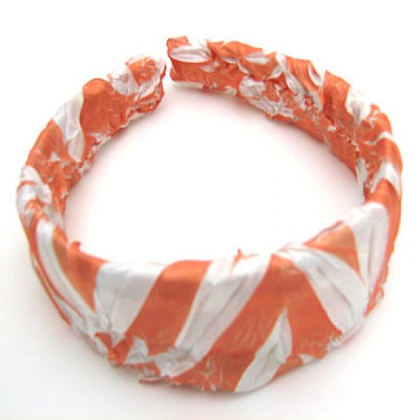wholesale Origami Headbands*  Tangerine-White -