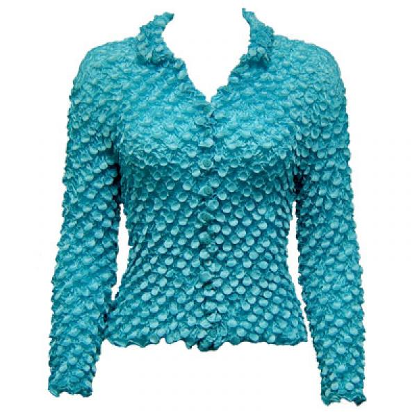 Wholesale Coin Style - Cardigan Turquoise - One Size (S-XL)