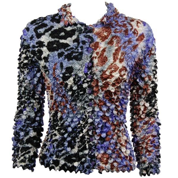 Wholesale Coin Style - Cardigan Giraffe Purple-Brown - One Size (S-XL)