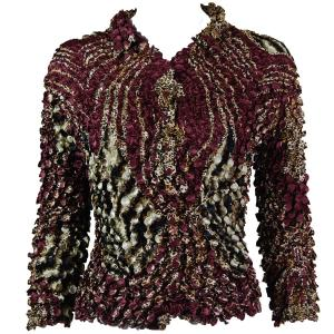 wholesale Coin Style - Cardigan Zebra Wine-Brown - One Size (S-XL)