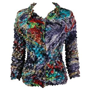 wholesale Coin Style - Cardigan Abstract Paint Splatter - Slate - One Size (S-XL)