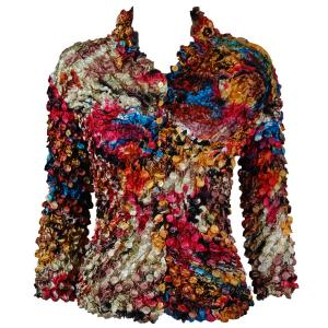 wholesale Coin Style - Cardigan Abstract Paint Splatter - Gold - One Size (S-XL)