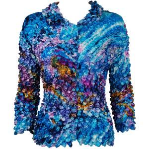 wholesale Coin Style - Cardigan Abstract Paint Splatter - Blue - One Size (S-XL)