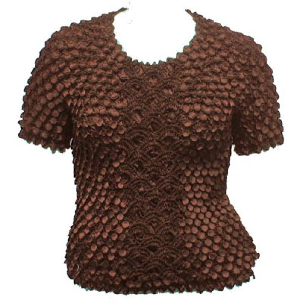 Wholesale Queen - Coin Fishscale - Short Sleeve Dark Chocolate - Queen Size Fits (XL-3X)
