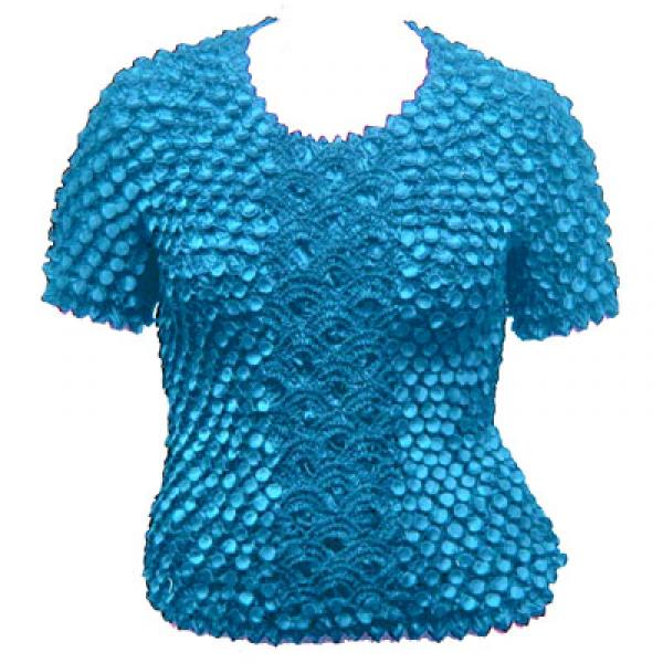 Wholesale Queen - Coin Fishscale - Short Sleeve Turquoise - Queen Size Fits (XL-3X)