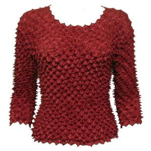 wholesale Spike Popcorn - Three Quarter Sleeve Maroon - One Size (S-L)