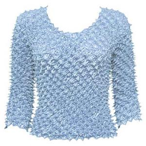 wholesale Spike Popcorn - Three Quarter Sleeve Sky Blue - One Size (S-L)