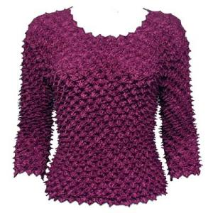 Wholesale  Eggplant Spike Top- Three Quarter Sleeve - One Size (S-L)