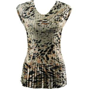 Wholesale  Olive Leopard Satin Mini Pleat - Cap Sleeve V-Neck - One Size (S-XL)