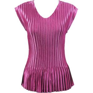 Wholesale  Solid Orchid Satin Mini Pleat - Cap Sleeve V-Neck - One Size (S-XL)