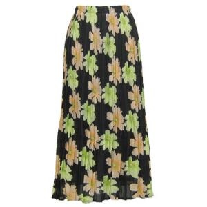 Skirts - Georgette Mini Pleat Ankle Length*  Hibiscus Peach-Green  - One Size (S-XL)