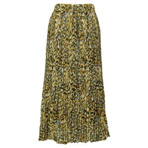 Skirts - Georgette Mini Pleat Ankle Length*  Leopard Print - One Size (S-XL)