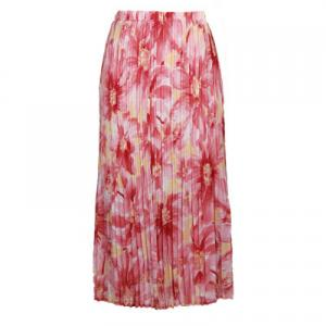 Skirts - Georgette Mini Pleat Ankle Length*  Daisies - Pink  - One Size (S-XL)
