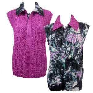 Wholesale  Pink-Grey Floral reverses to Solid Orchid - S-L