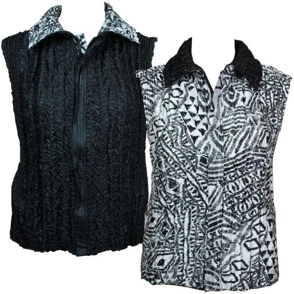 Quilted Reversible Vests Abstract Dash Designs - S-L