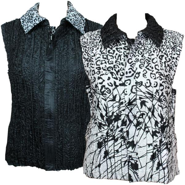 Quilted Reversible Vests Abstract Animal-Linear - S-L
