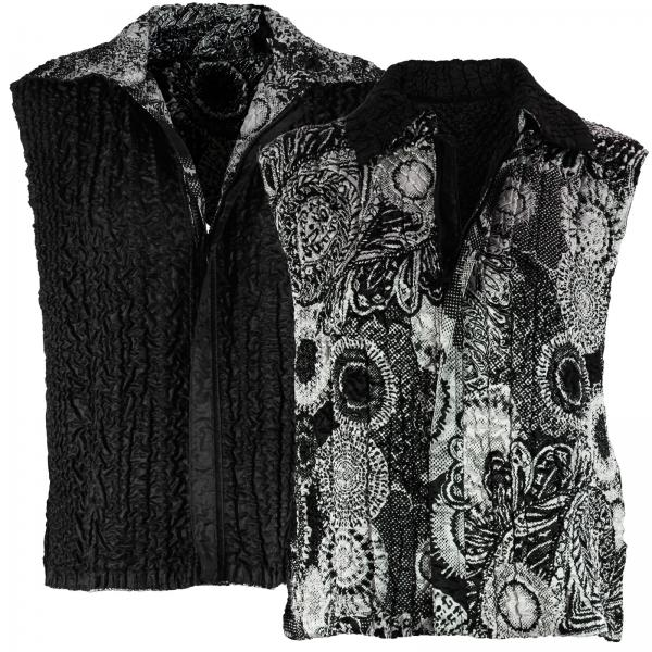 Quilted Reversible Vests #14018 Paisley Abstract (MB) - XL-2X