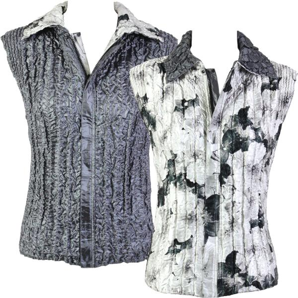 Quilted Reversible Vests #5670 - S-L