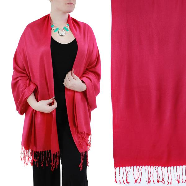 Wholesale Pashmina Style Shawls - Woven Solids & Prints Solid Hot Pink -