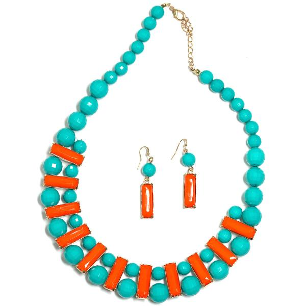 wholesale Fashion Necklace & Earring Sets 4417 - Turquoise  -