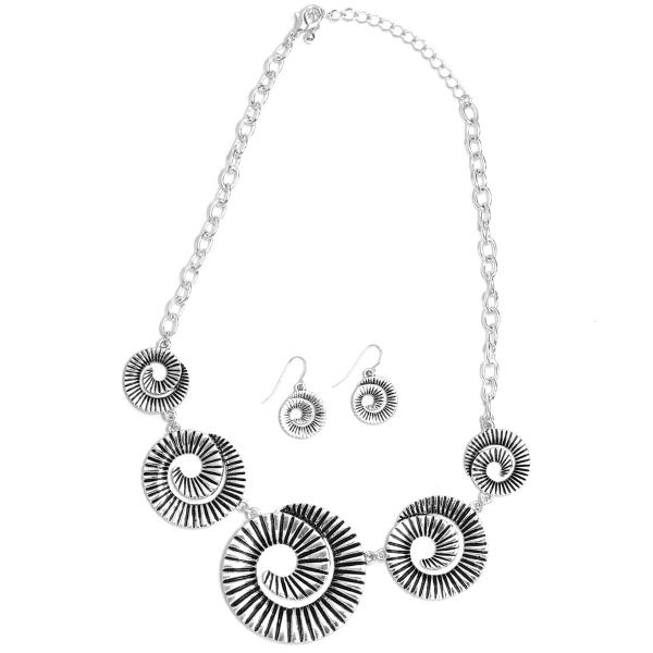 Fashion Necklace & Earring Sets 1106 - Silver -