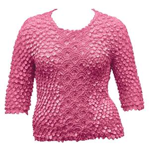 wholesale Queen - Coin Fishscale - Three Quarter Sleeve Hot Pink - Queen Size Fits (XL-3X)