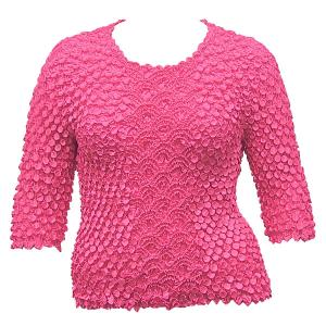 wholesale Queen - Coin Fishscale - Three Quarter Sleeve Bright Rose - Queen Size Fits (XL-3X)
