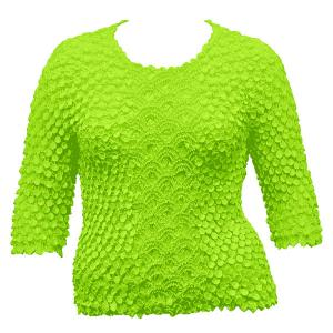 wholesale Queen - Coin Fishscale - Three Quarter Sleeve Vivid Green - Queen Size Fits (XL-3X)