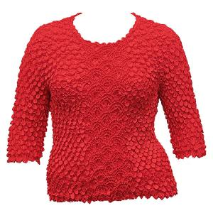 wholesale Queen - Coin Fishscale - Three Quarter Sleeve Red - Queen Size Fits (XL-3X)