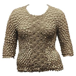 wholesale Queen - Coin Fishscale - Three Quarter Sleeve Granite - Queen Size Fits (XL-3X)