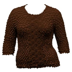 wholesale Queen - Coin Fishscale - Three Quarter Sleeve Chestnut - Queen Size Fits (XL-3X)