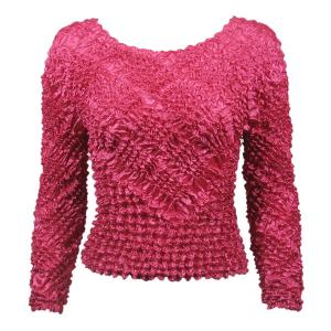 Wholesale  Magenta Gourmet Popcorn - Long Sleeve Diamond Design - One Size (S-XL)