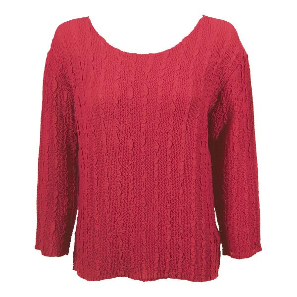 Wholesale Magic Crush Georgette - Three Quarter Sleeve* Solid Coral - One Size  Fits (S-M)