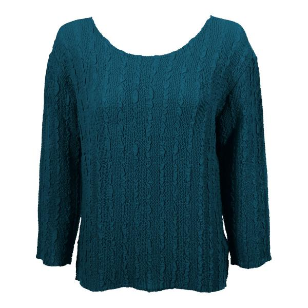 Wholesale Magic Crush Georgette - Three Quarter Sleeve* Solid Teal - One Size  Fits (S-M)