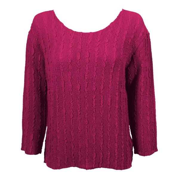 Wholesale Magic Crush Georgette - Three Quarter Sleeve* Solid Magenta - One Size  Fits (S-M)