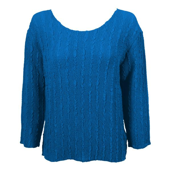 Wholesale Magic Crush Georgette - Three Quarter Sleeve* Solid Cornflower Blue - One Size  Fits (S-M)