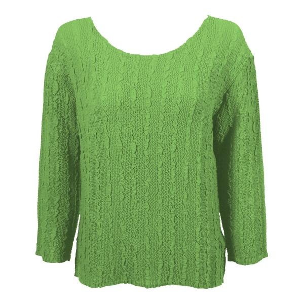 Wholesale Magic Crush Georgette - Three Quarter Sleeve* Solid Lime - One Size  Fits (S-M)