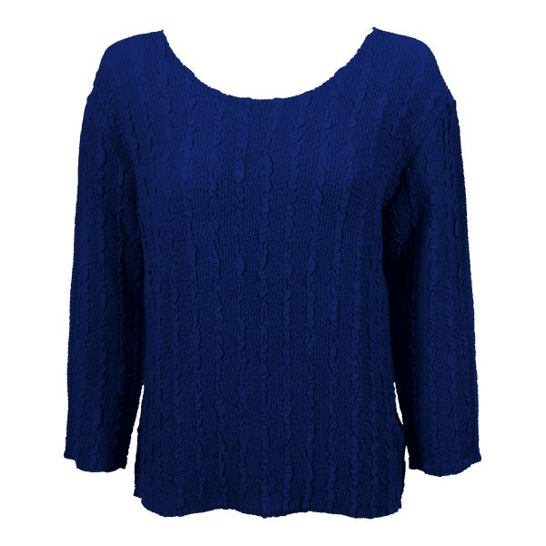 Wholesale Magic Crush Georgette - Three Quarter Sleeve* Solid Royal - One Size  Fits (S-M)