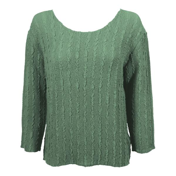 Wholesale Magic Crush Georgette - Three Quarter Sleeve* Solid Light Moss - One Size  Fits (S-M)