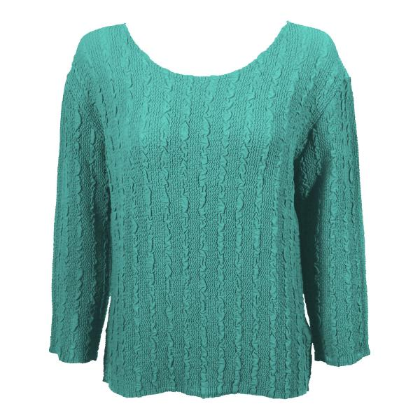 Wholesale Magic Crush Georgette - Three Quarter Sleeve* Solid Seafoam - One Size  Fits (S-M)